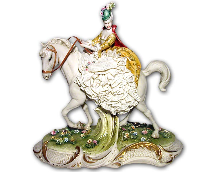 dama di ceramica capodimonte