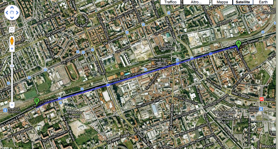 google map milano