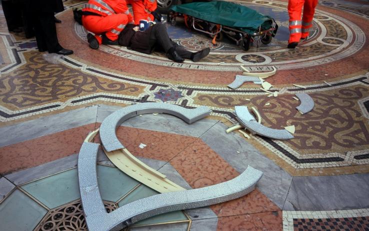 cuore swarovski galleria di milano
