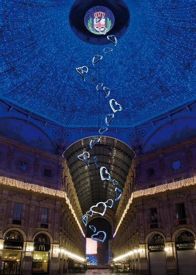 Luci Galleria Vittorio Emanuele Milano