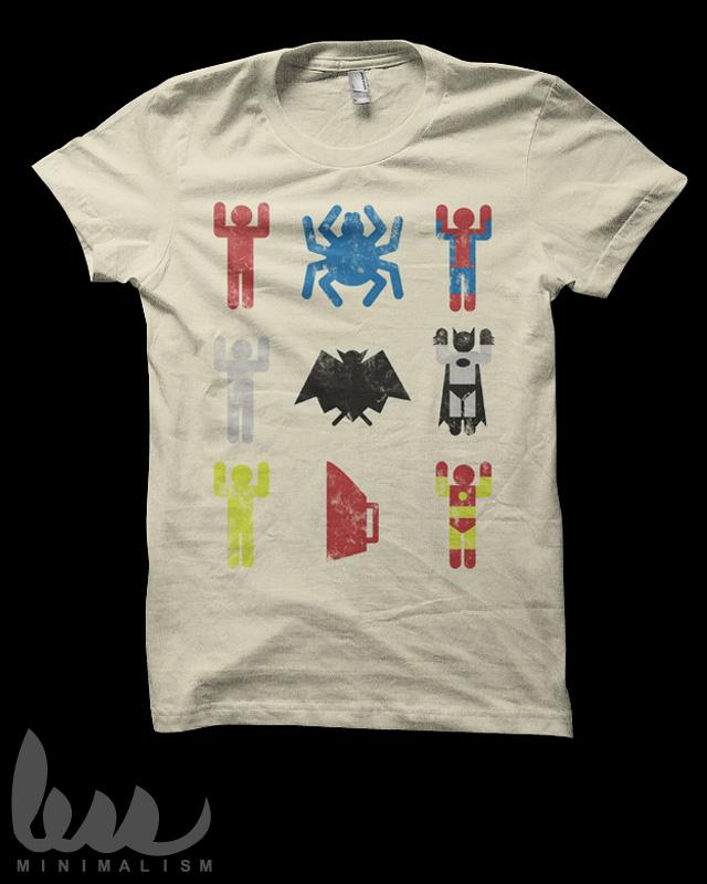 t shirt batman spiderman
