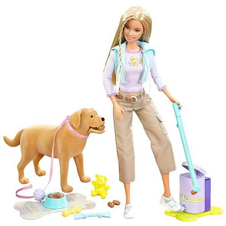 barbie con il cane