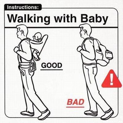 camminare con un neonato