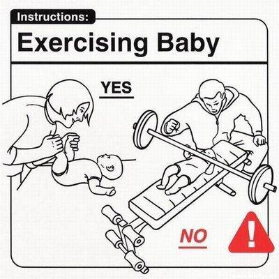 esercizi per un neonato