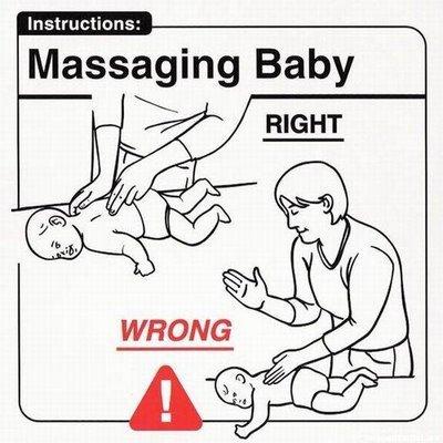 massaggi per un neonato