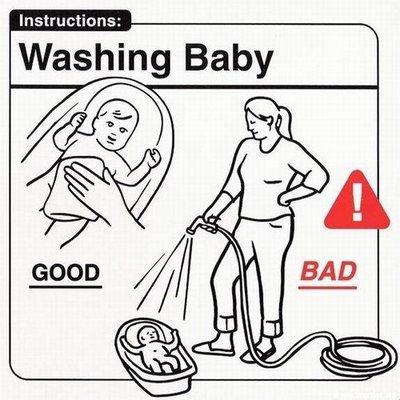 lavare un neonato