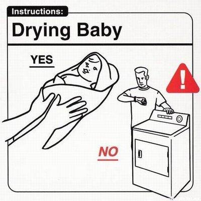 asciugare un neonato
