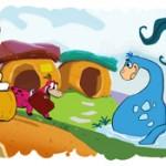 google doodle flintstones