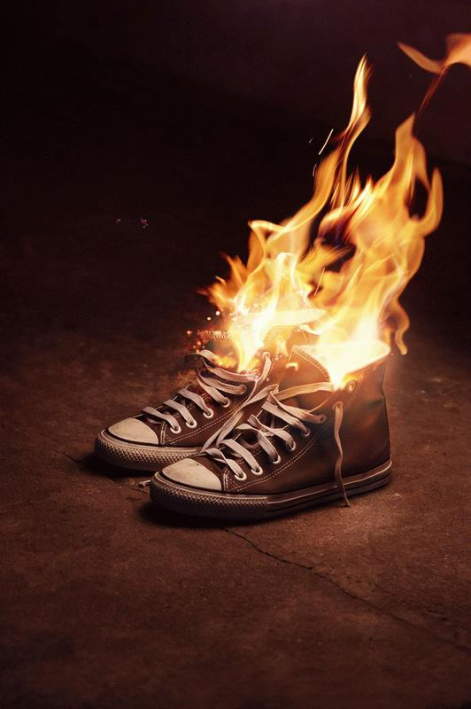 all star fuoco fiamme
