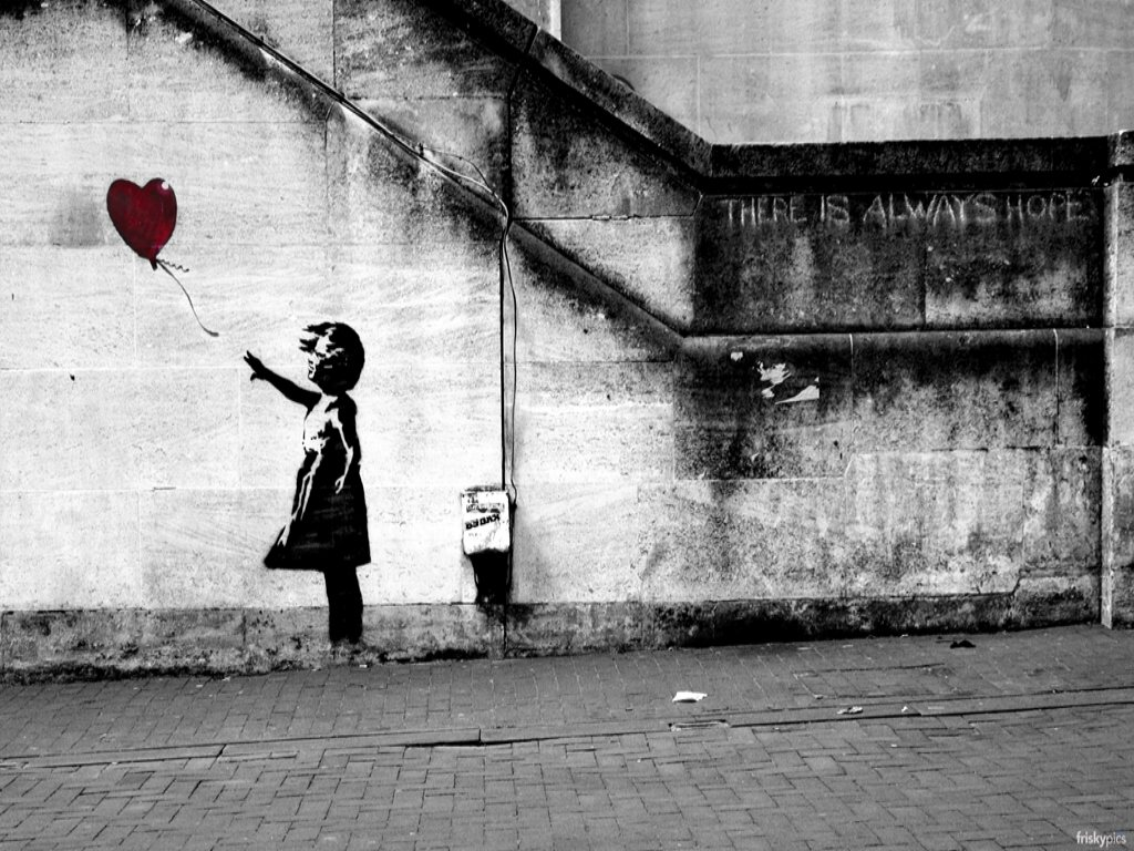 Banksy Hope Copyright