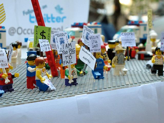 La protesta a Wall Street