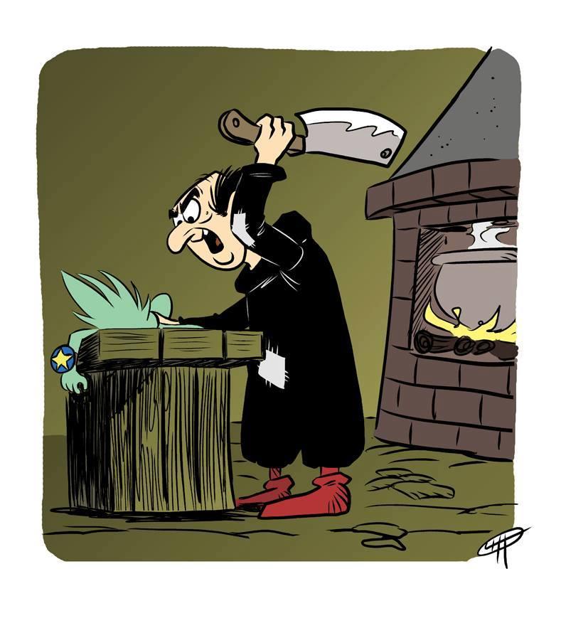 cartooncidio chobin gargamella