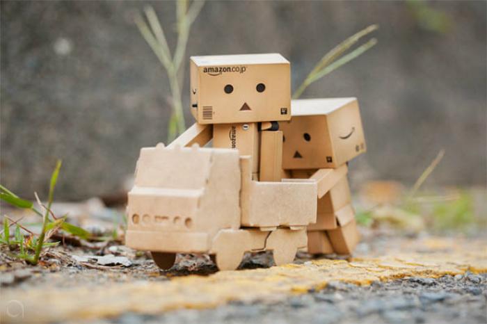 Danbo robot moving