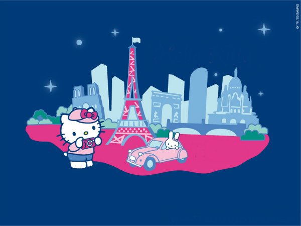 Hello kitty in paris