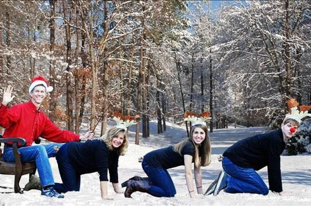 bizzare christmas family card