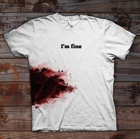 thirt con sangue imfine