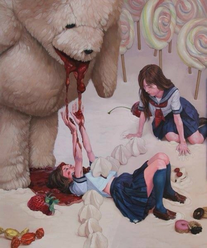 orso illustrazione giapponese