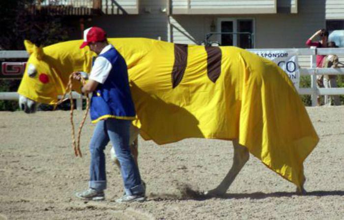pikachu horse
