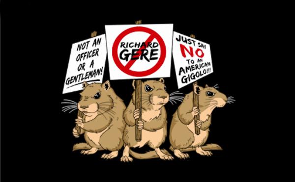 richard gere topi nel sedere