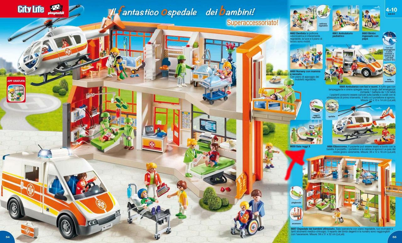 sala raggi x playmobil