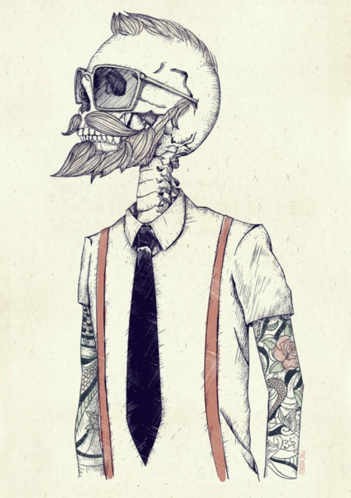 skull hipster