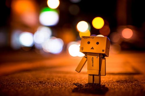 Danbo robot sad