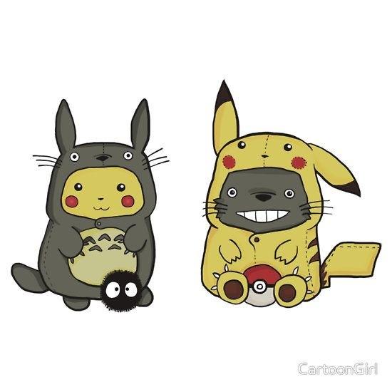 pikachu totoro