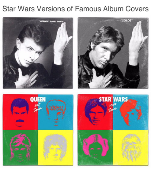 Star Wars Versions of Famous Album Covers by Steven Lear
