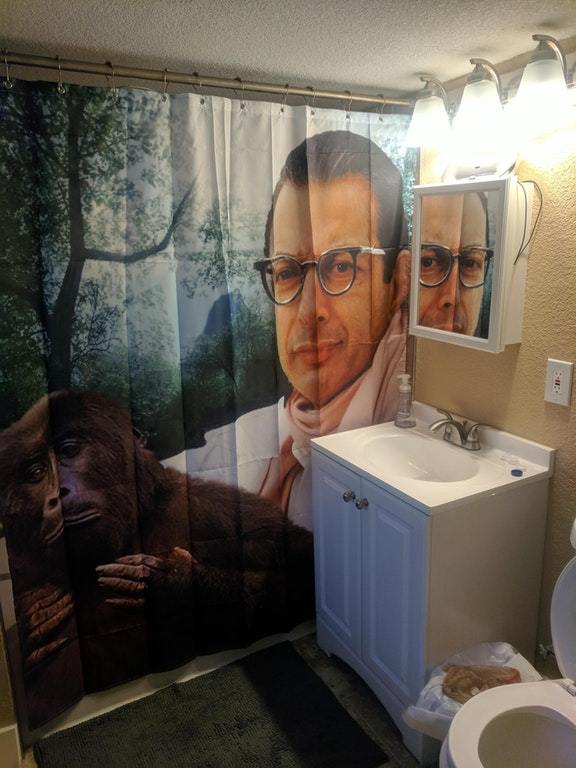 Jeff Goldblum Custom Waterproof Fabric Shower Curtain