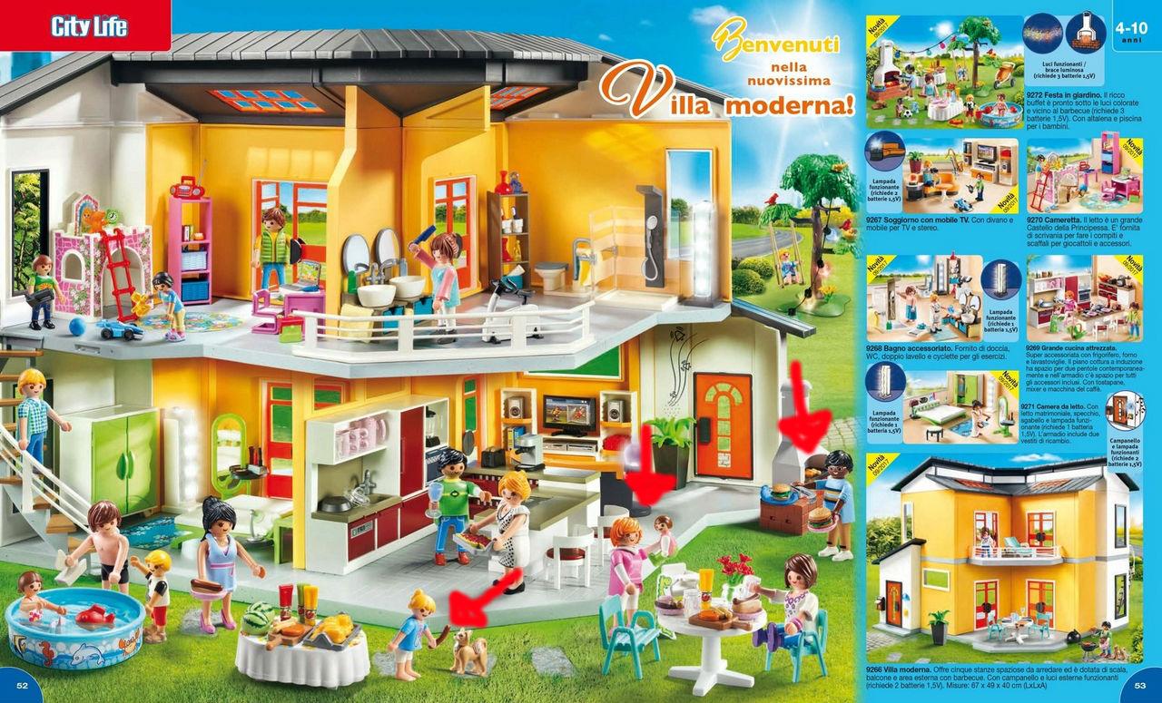 villa moderna playmobil